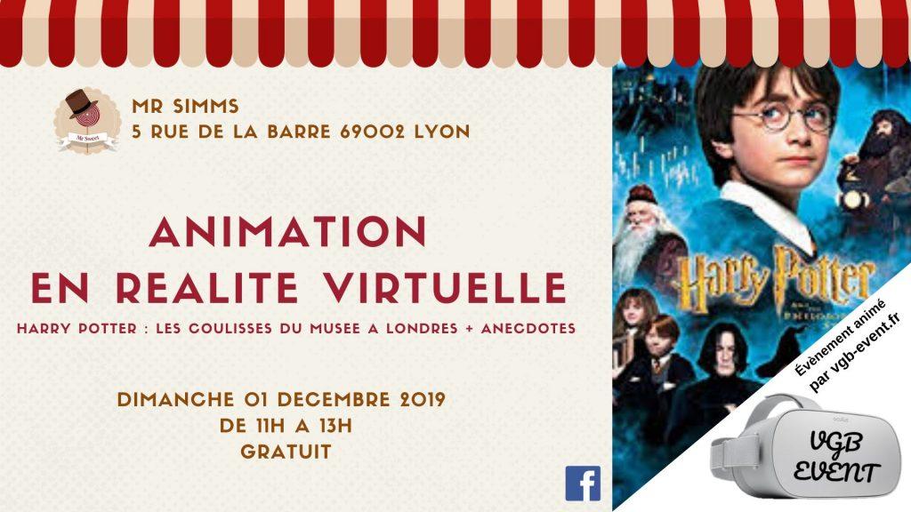 Réalité virtuelle Harry Potter Mr Simms Lyon VGB EVENT