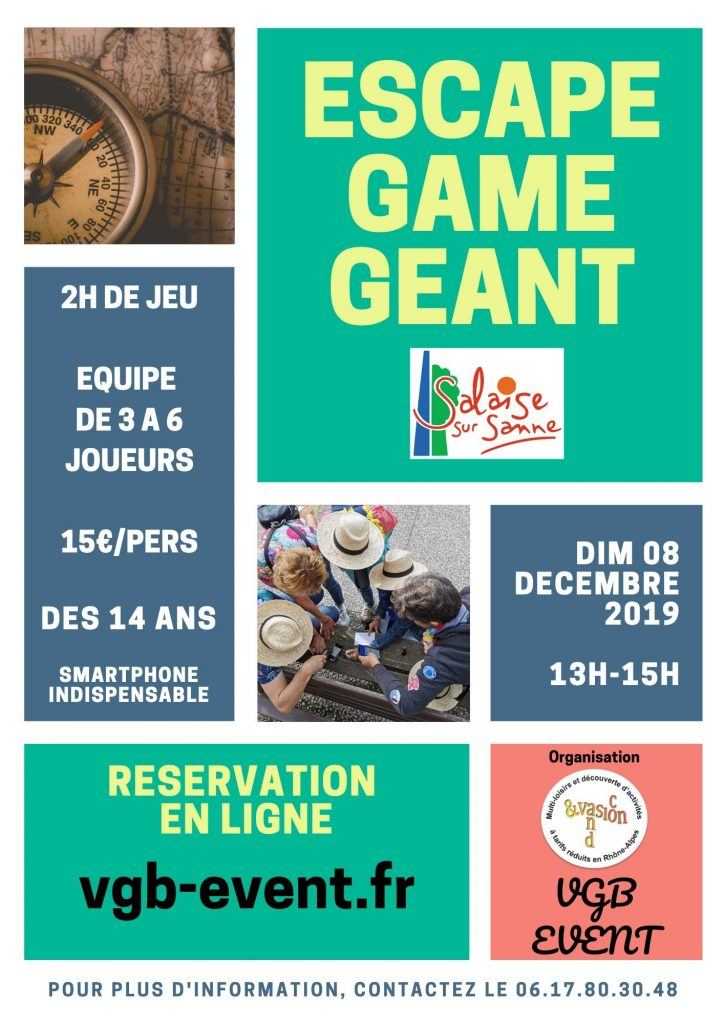 Escape game géant Salaise Sur Sanne VGB EVENT